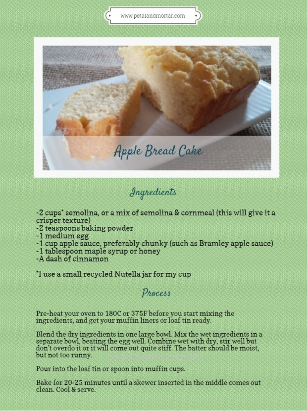 #Apple #Bread #Cake #semolina #applesauce #applebutter